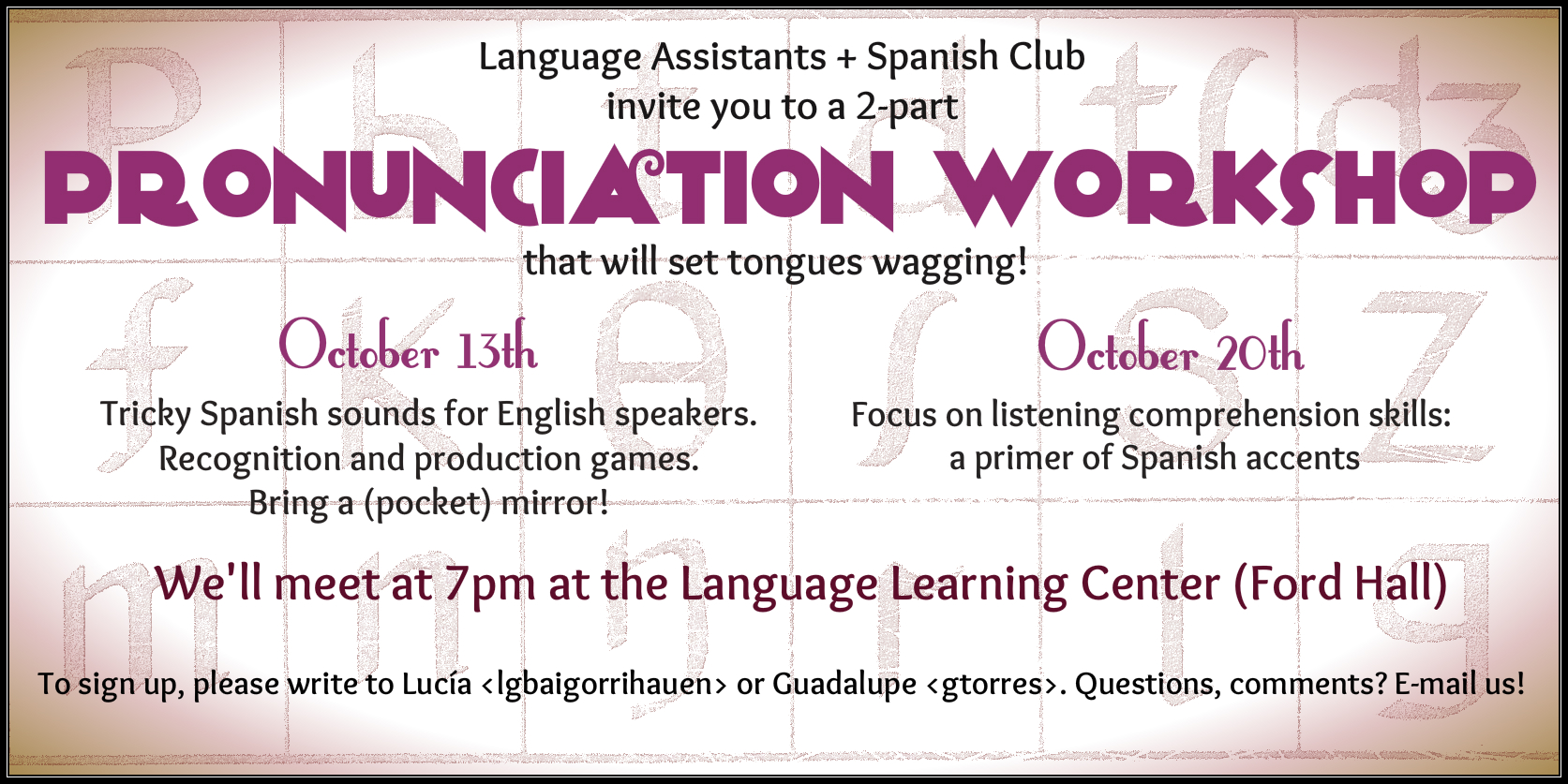 Pronunciation Workshop