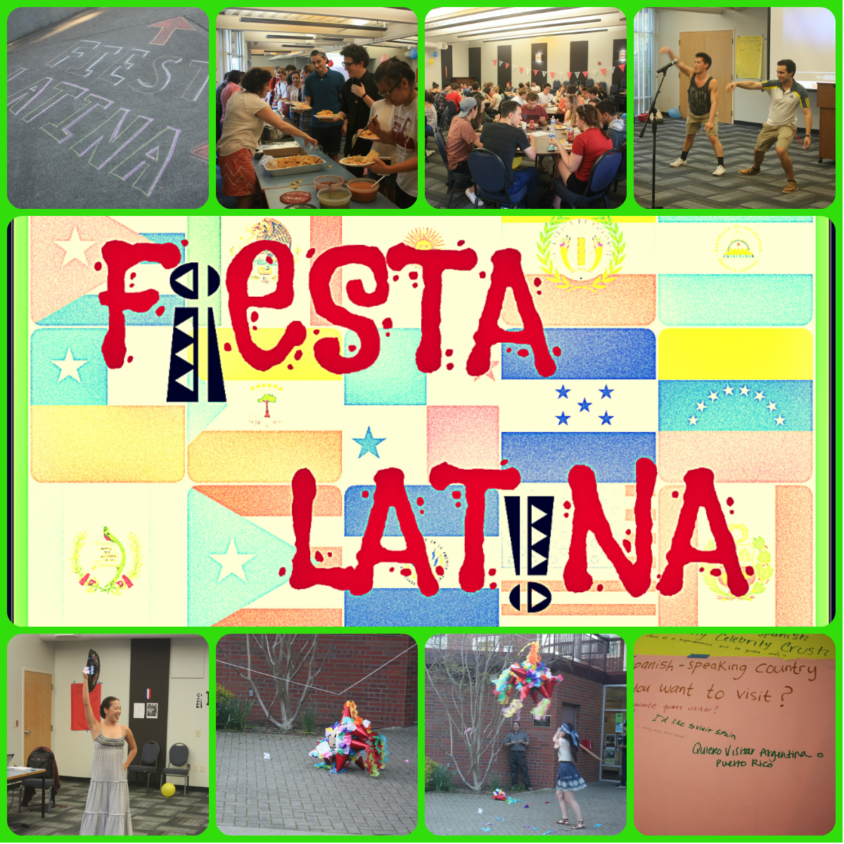 Fiesta latina post poster