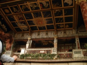The roof of Shakespeare's Globe