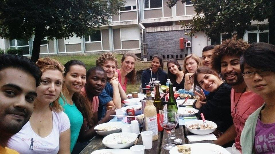 An international meal with people from 10 different countries!  Studying abroad not only lets you experience the culture of the country you're in, but also the cultures of people from around the world.  Study abroad not only gives you a better perspective of the country you're visiting, it gives you a global perspective.