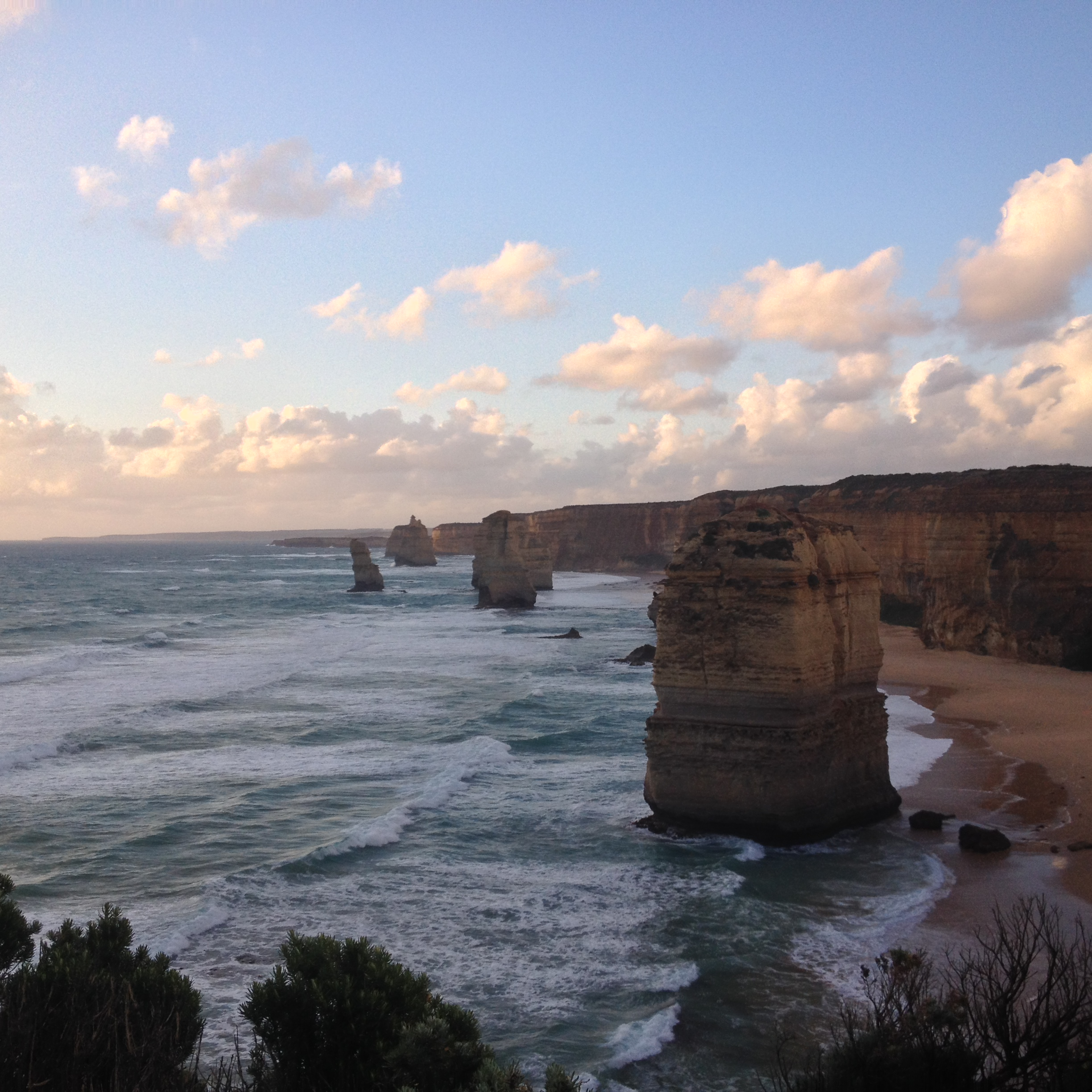 12 Apostles Rock Formation  on the Great Ocean Road in Australia. An unforgettable and amazing site that I'll never forget and am so glad I was able to see it on my experience abroad in Australia.
