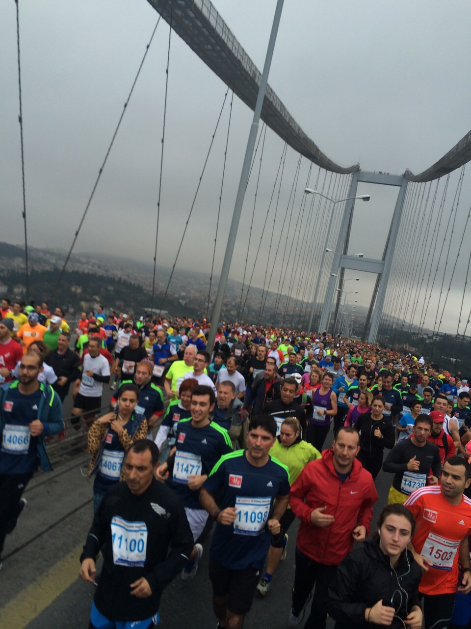 This picture resonates deeply with my time abroad. I ran the Istanbul Marathon almost a year ago today and still feel a sense of excitement from the experience. The marathon is the only time of the year that one can cross the Bosphorus straight on foot, and it is the only marathon that crosses two continents, Europe and Asia. It was a pretty surreal moment when you are out on the Bosphorus bridge with tens of thousands of people and could actually feel the bridge swaying from the weight of all the people running.