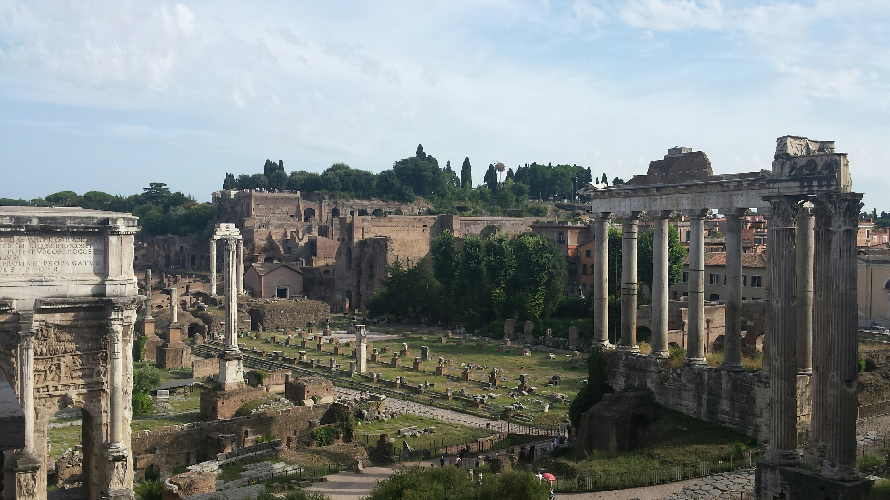 This is an image of the ancient forum in Rome, Italy.